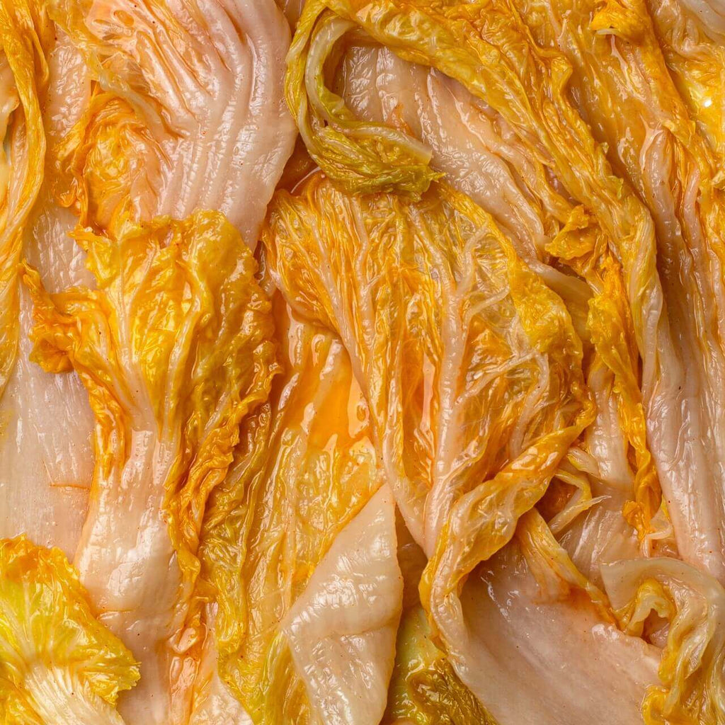 WHITE Napa Cabbage Kimchi with Ginger Detail - Mother-in-Law's