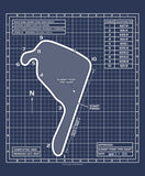 Summit Point Blueprint Track Map Tee
