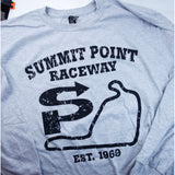 Summit Point Weathered Track Map Long-Sleeve Shirt