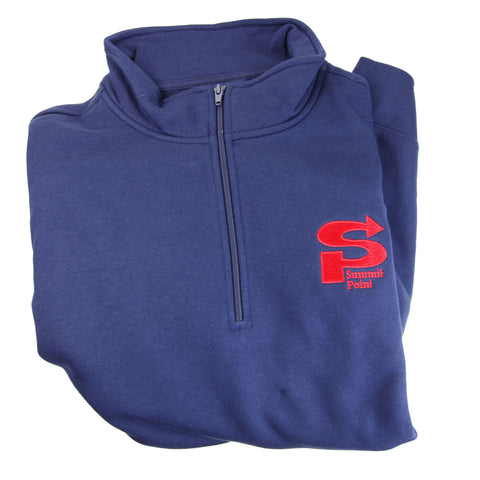 Summit Point Embroidered 1/4-Zip Fleece Sweatshirt