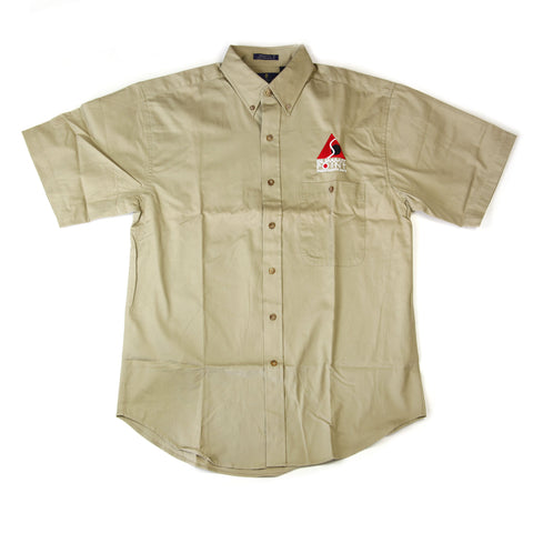 Clearance! Summit Point Contemporary Logo Button-Up Dress Shirt