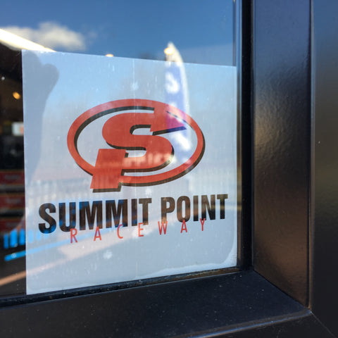 Summit Point Classic Logo Inside Window Decal