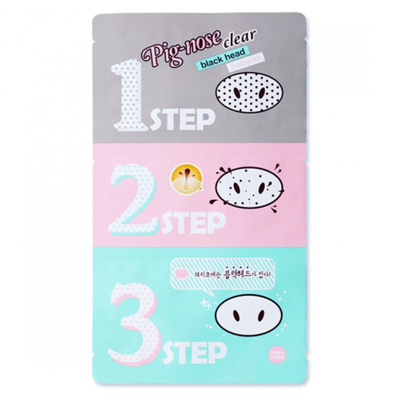 HOLIKA HOLIKA Pig Nose Clear Black Head 3-Step Kit - K GLAM