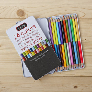 """24 Colors for Doodling"" Colored Pencil Set"