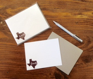"""Howdy from Texas"" Note Cards"