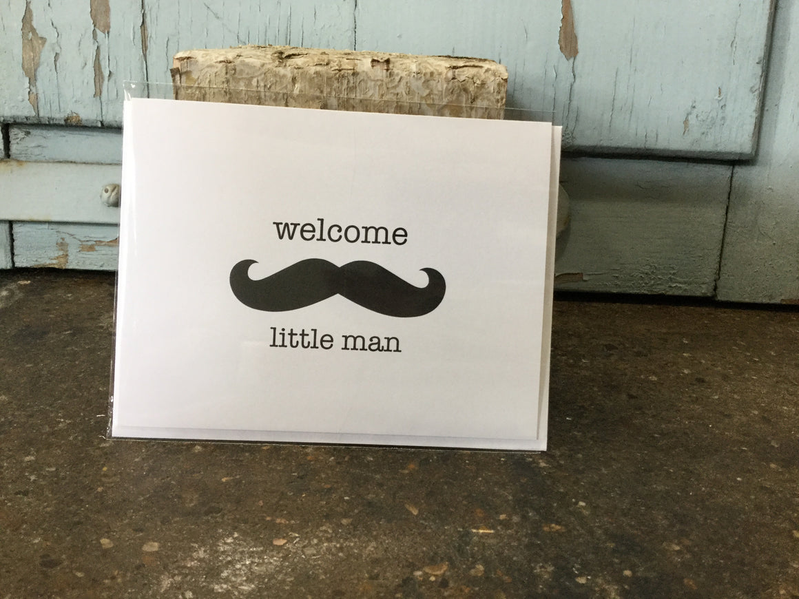 """Welcome Little Man"" Card"