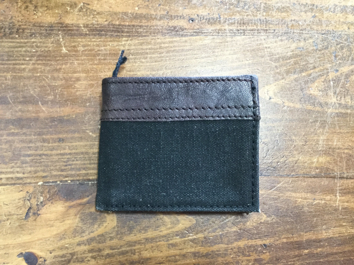 Canvas and Leather Men's Wallets