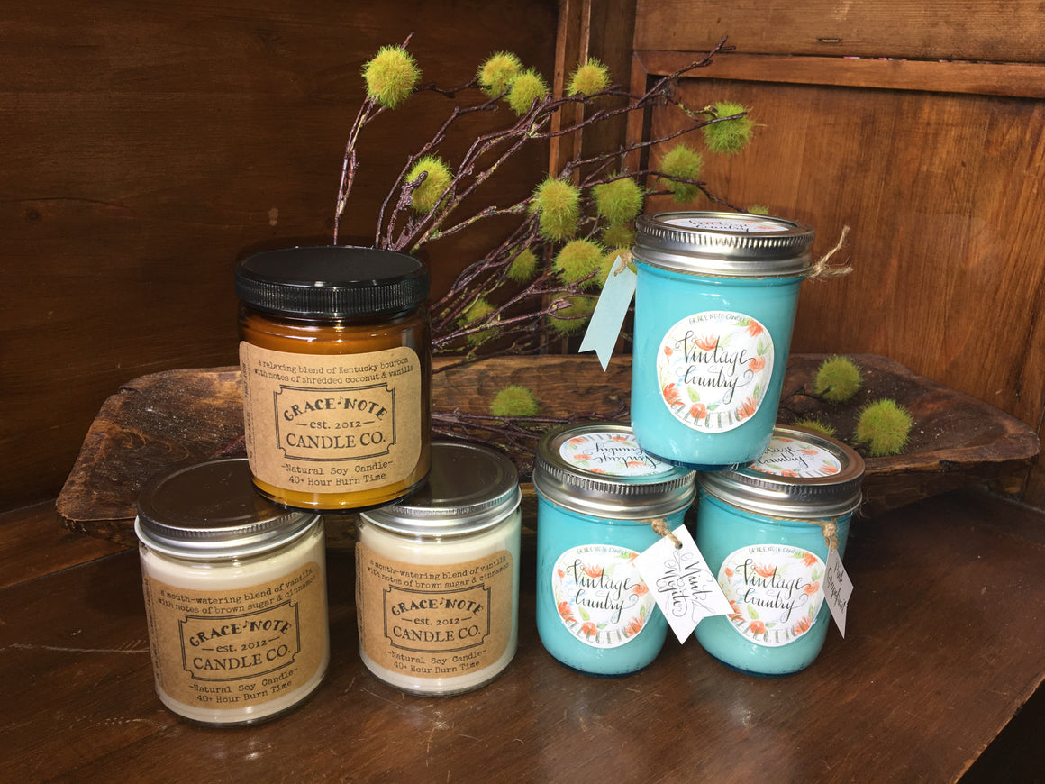 Natural Soy Candle by Grace Note Candle Co.