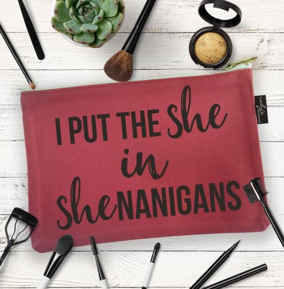 Shenanigans Cosmetic Bag by Ruby's Rubbish