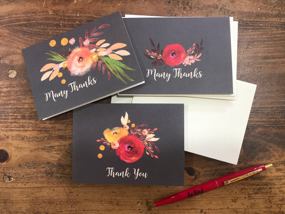 Floral Thank You Cards bundle