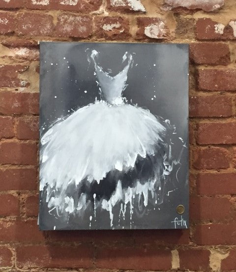 """Sibylle"" by Anita Felix, an original 22X28 Canvas Fine Art"