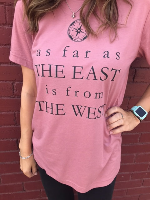 East to West Shirt by Ruby's Rubbish