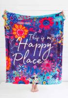 """This Is My Happy Place"" cozy blanket"