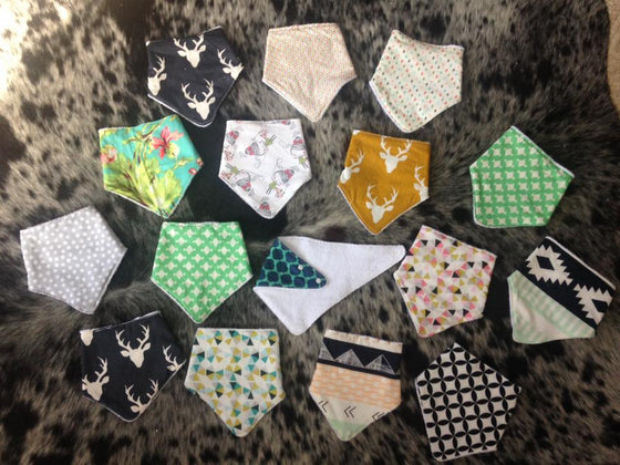Bandana-Style Baby Bibs by The Dirty Apron