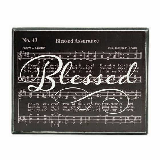 Blessed Assurance Box Sign