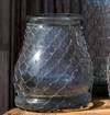 Glass Bottle with Poultry Wire