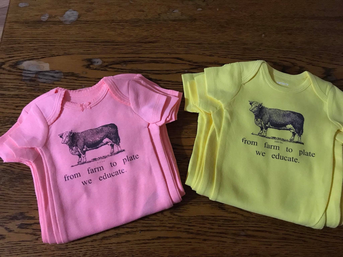 Farm to Plate Onesie, assorted colors