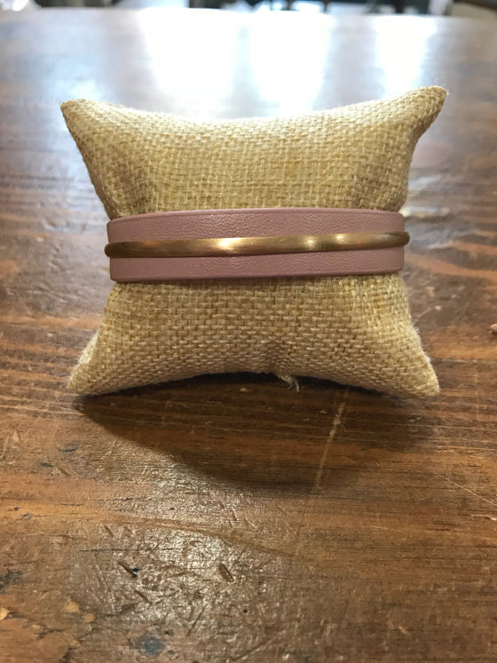 Cuff Bracelets with Gold Bar