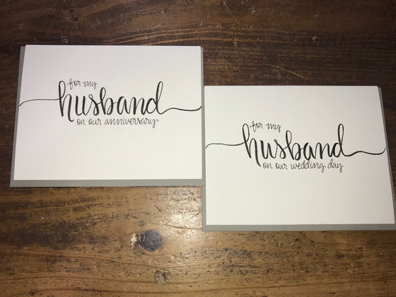 For My Husband Cards