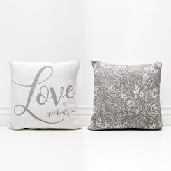 """Love is Spoken Here"" Pillow Canvas"