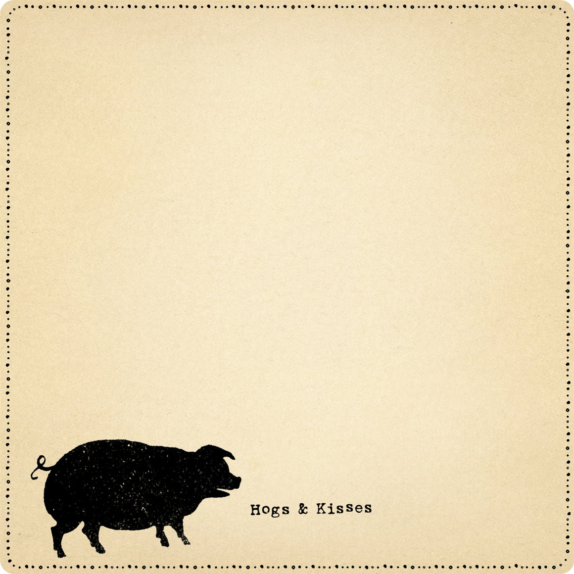 """Hogs & Kisses"" Notepad"