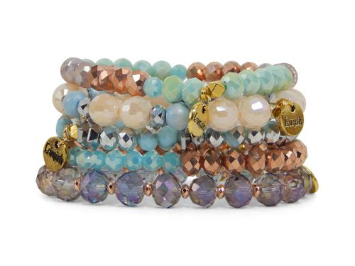 multi set std elastic exotic stackable charms bracelets product bracelet beaded