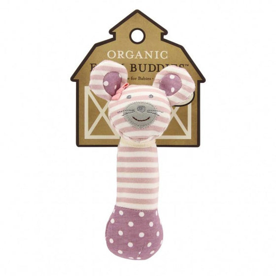 Ballerina Mouse Organic Farm Squeaky Toy