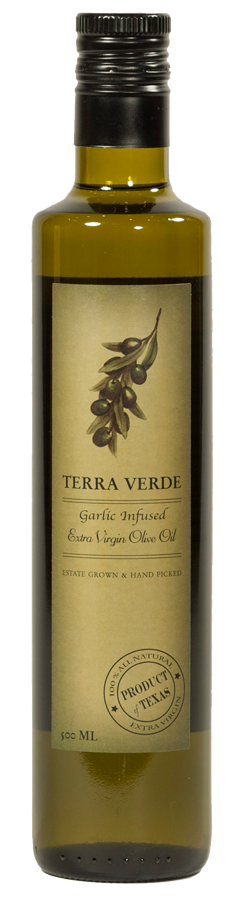 Terra Verde Garlic Infused Extra Virgin Olive Oil - Large
