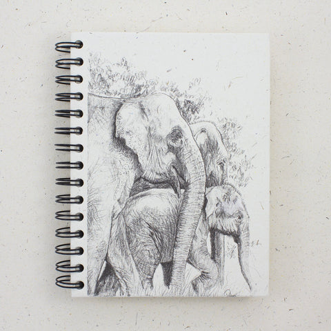 elephant family notebook