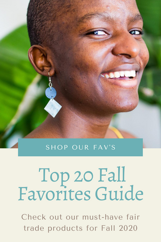 woman with leather earring fall favorites guide for closet and home