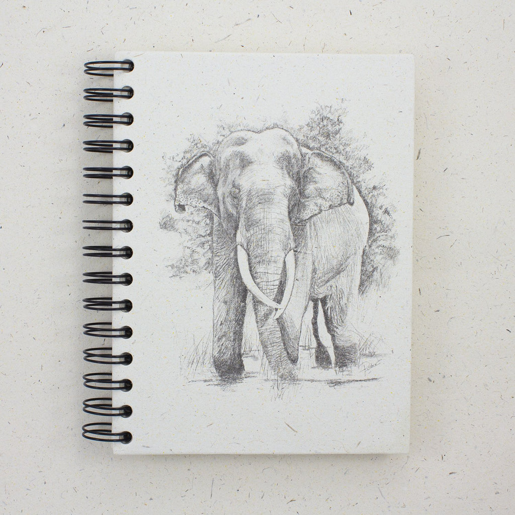 Large Notebook Bl/Wht Tusker