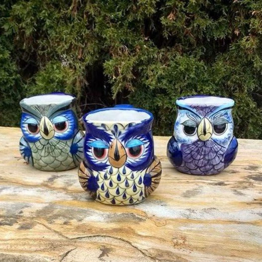 Fair Trade Handmade Ceramic Guatemalan Owl Coffee Mug