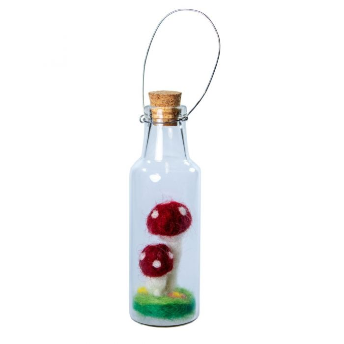 Bottle Ornament Dbl Fairy Mush