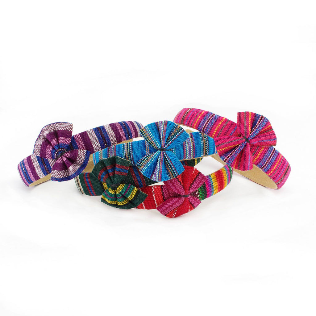 Lucia's World Emporium Fair Trade Handmade Guatemalan Headband with Bow
