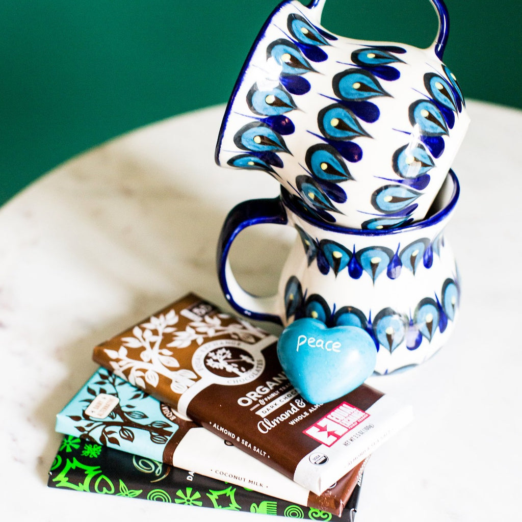 Coffee and Chocolate Fair Trade Soapstone Heart Gift Package
