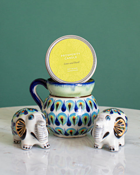Fair Trade Gifts for the Home Coffee Cup, Elephant Salt and Pepper Shakers, Handmade Candle