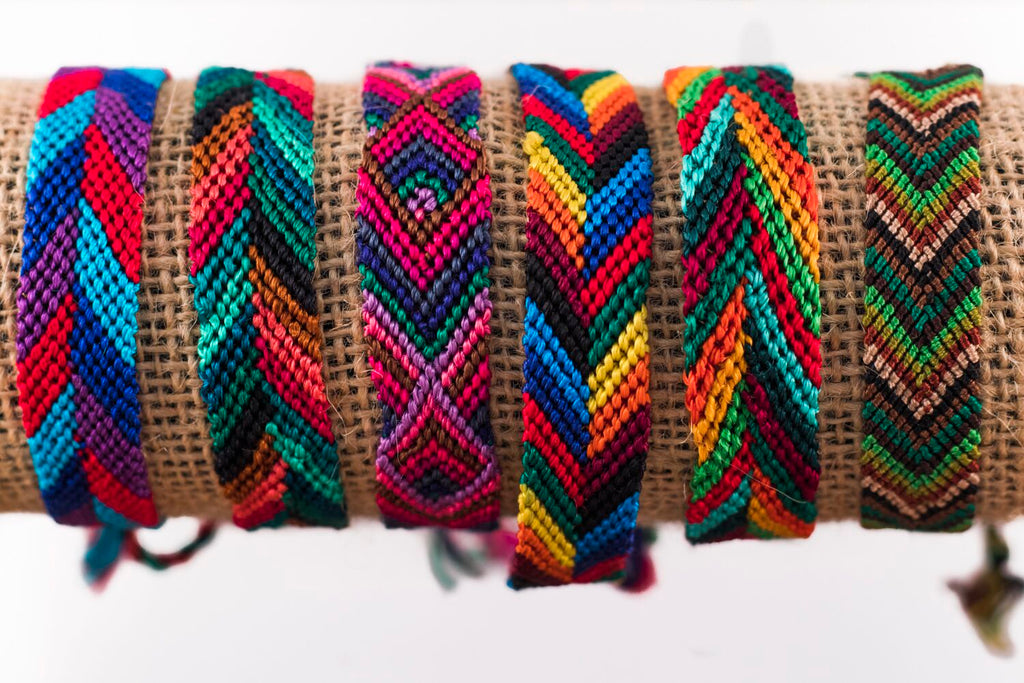 Lucia's World Emporium Fair Trade Handmade Wide Silk Friendship Bracelet from Guatemala