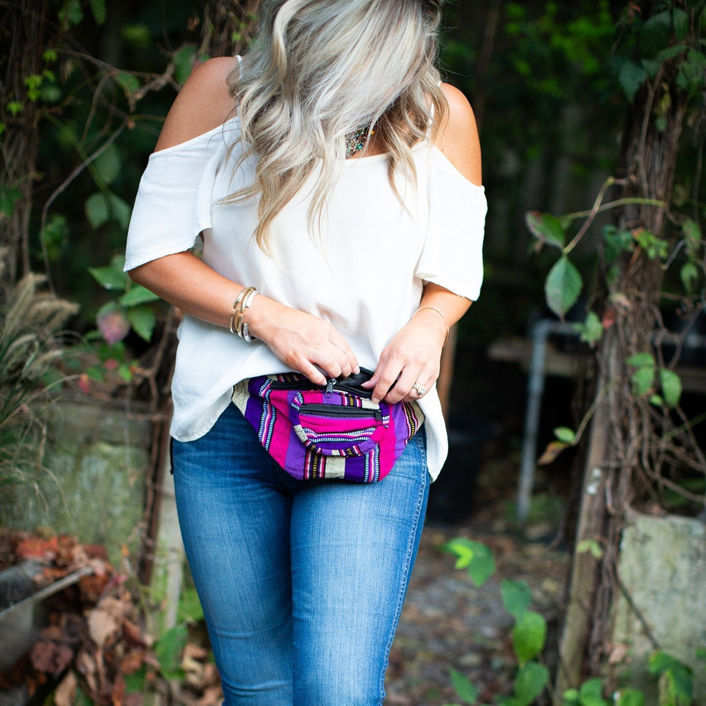 Lucia's World Emporium Fair Trade Handmade Woven Ikat Fanny Pack from Guatemala