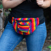 Lucia's World Emporium Fair Trade Handmade Guatemalan Rainbow Ikat Fanny Pack
