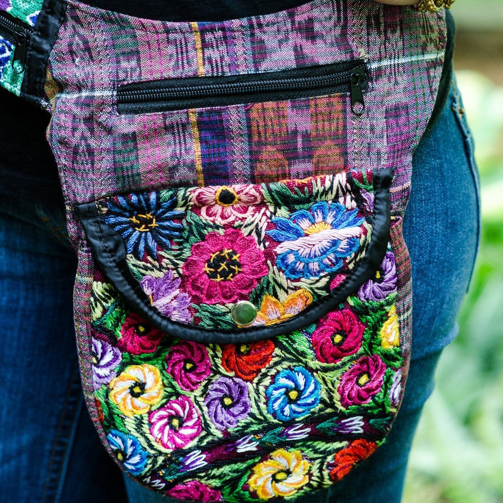 Lucia's World Emporium Fair Trade Handmade Guatemalan Recycled Hipster Fanny Pack