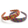 Lucia's World Emporium Fair Trade Handmade Criss Cross Toto Headband from Guatemala