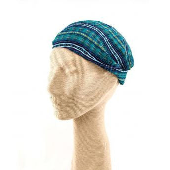 Lucia's World Emporium Fair Trade Handmade Guatemalan Cotton Headband in teal