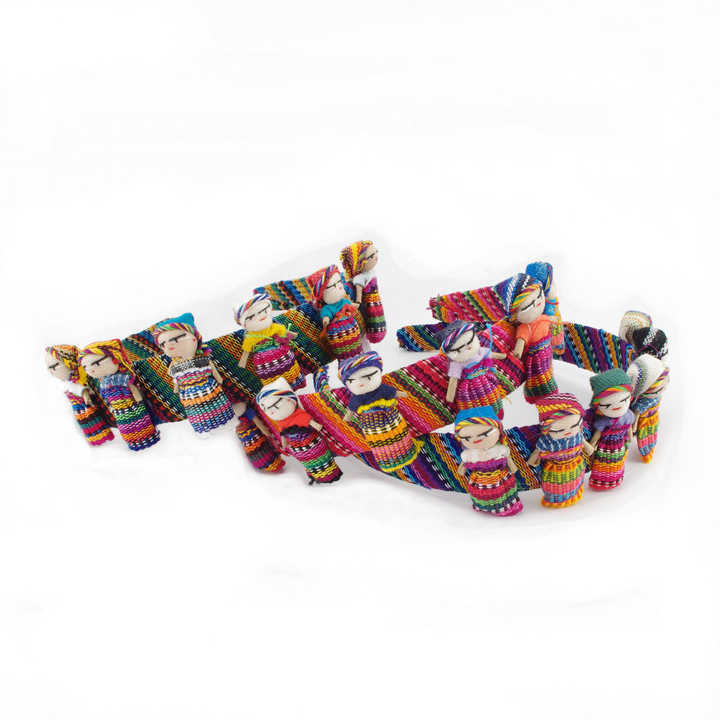 Lucia's World Emporium Fair Trade Handmade Guatemalan Worry Doll Headband