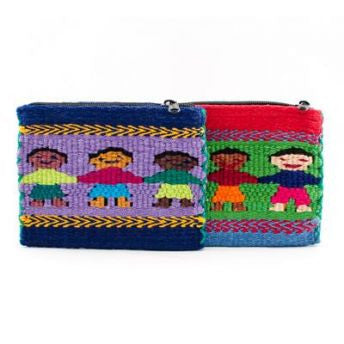 Lucia's World Emporium Fair Trade Handmade Guatemalan Santiago People Coin Bag