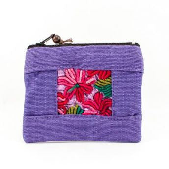 Lucia's World Emporium Fair Trade Handmade Medium Patch Coin Bag from Guatemala