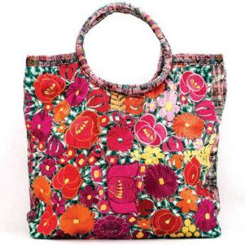 Lucia's World Emporium Fair Trade Handmade Embroidered Emily Tote from Guatemala
