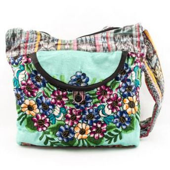 Lucia's World Emporium Fair Trade Handmade Upcycled Small Huipile Purse from Guatemala