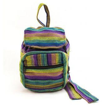Lucia's World Emporium Fair Trade Handmade Guatemalan Woven Mini Ikat Backpack Purse