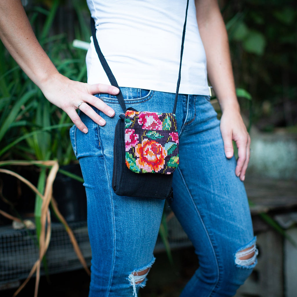 Lucia's World Emporium Fair Trade Handmade Guatemalan Necessity Crossbody Bag