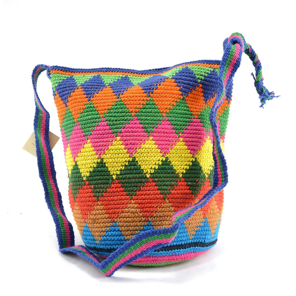 Lucia's World Emporium Fair Trade Handmade Medium Adjustable Nebaj Purse from Guatemala